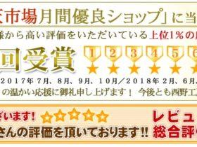 2019年1月度楽天月間優良ショップ受賞