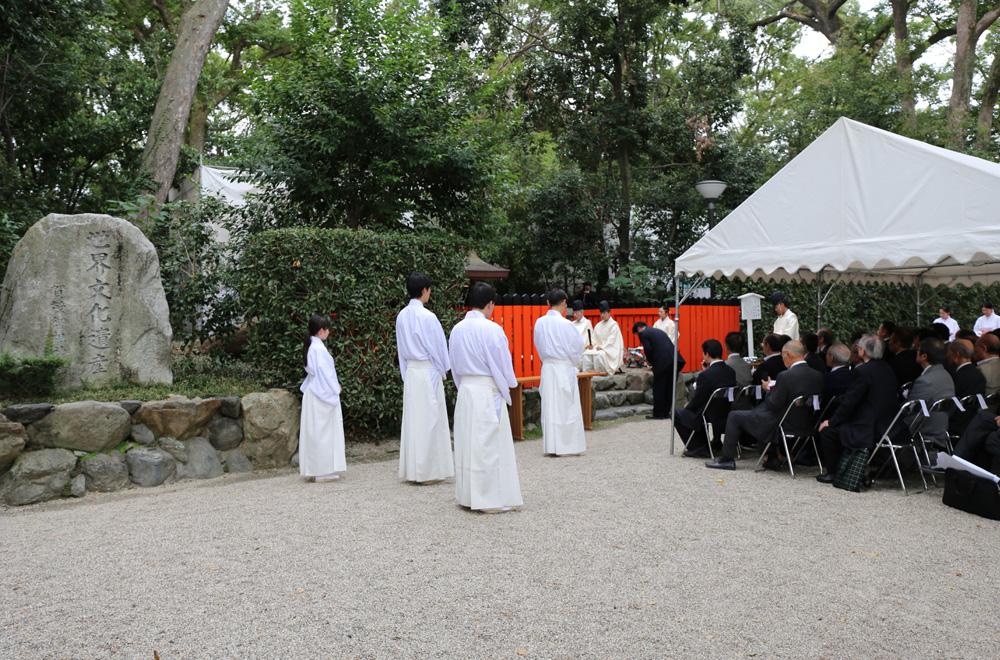 印納社にて祈願祭