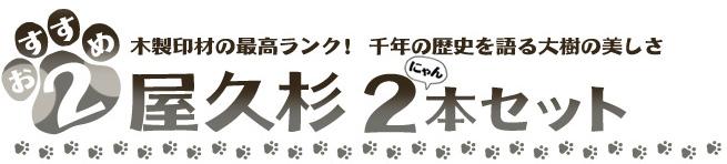猫の日企画おすすめ2 屋久杉2本セット